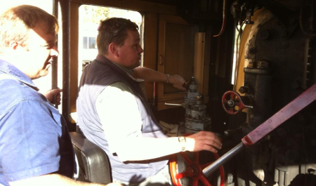 Driver Phil under instuction during his memorable Group Steam Driver Experience Day