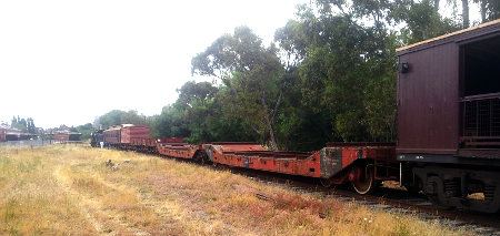 A Goods Train Awaiting to Depart Castlemaine Yard